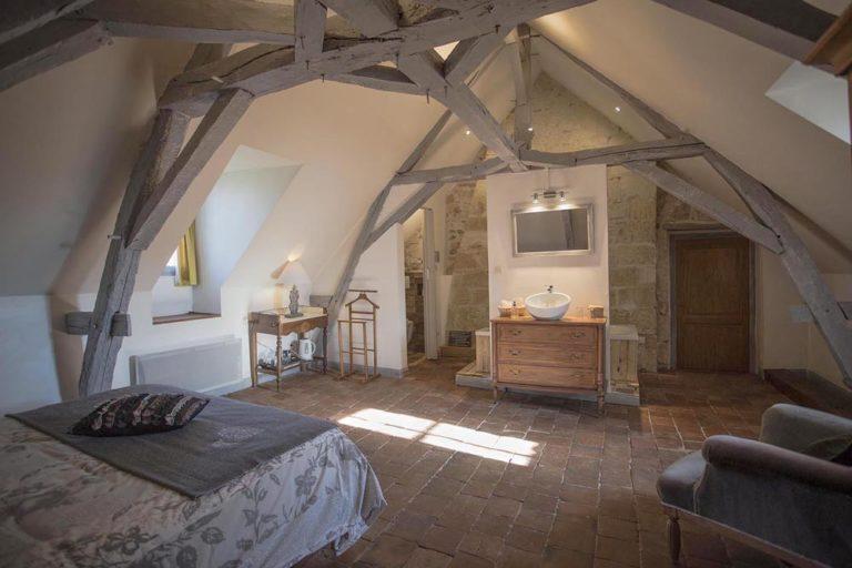 Chambre d'hôtes - Manoir de la Blonnerie - Golden plan large de la chambre